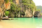 Karst Limestone Cliffs and Beach - Hong Islands, Thailand by Honor Kyne