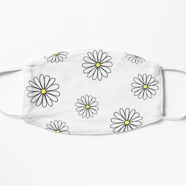 White Daisy doodle  Flat Mask