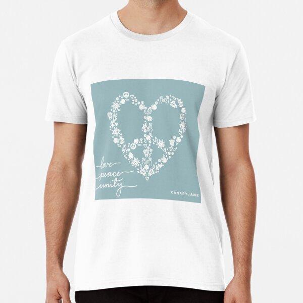 Peace, Love, & Unity Artwork Premium T-Shirt