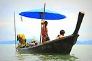 Coconut Vendor - Thai Style - Long Tail Boat on Phang Nga Bay by Honor Kyne