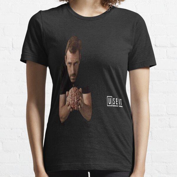 Dr House avec le cerveau T-shirt essentiel