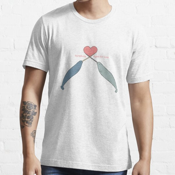 Narwhals fight for love Essential T-Shirt