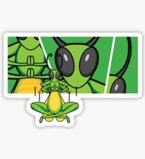 Patient Grasshopper 2 Sticker