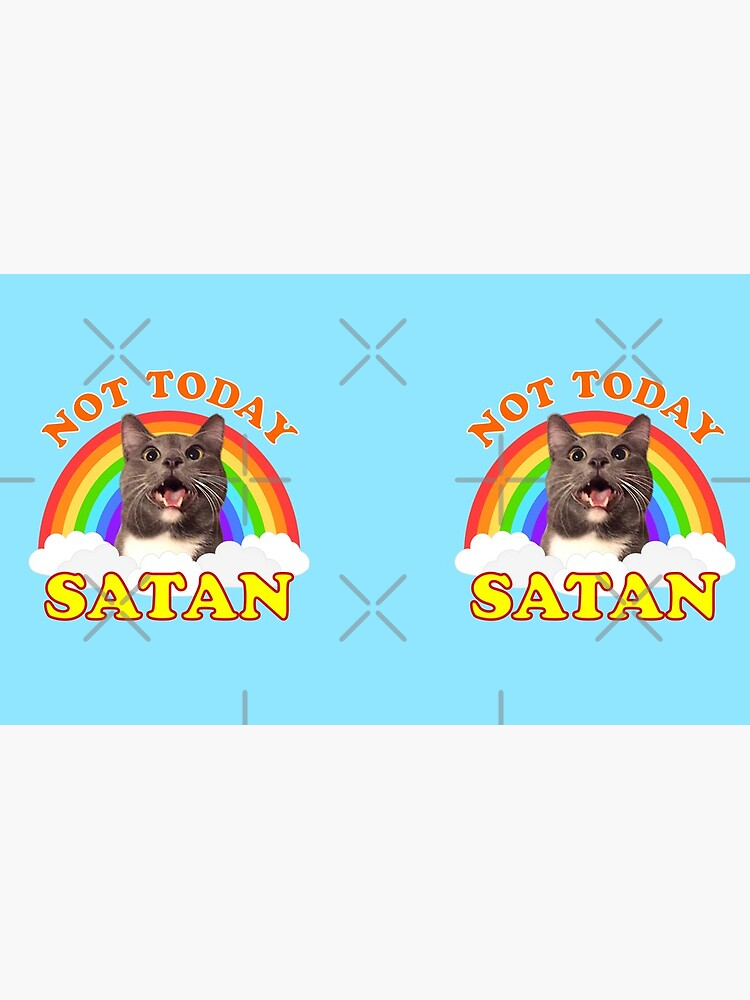 NOT TODAY SATAN! - Roger the Cat, Death Metal Rainbow Smiles by jadespear
