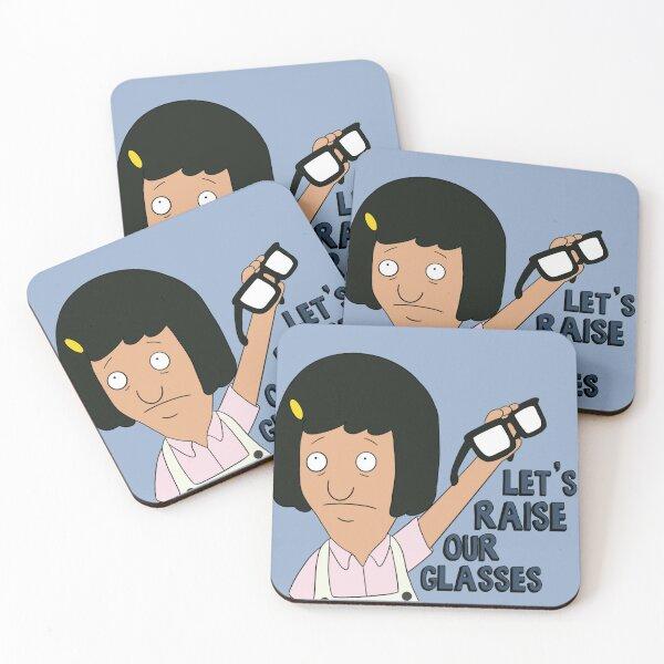 Tina Belcher  Coasters (Set of 4)