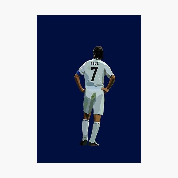 Real Madrid legend Raul Photographic Print