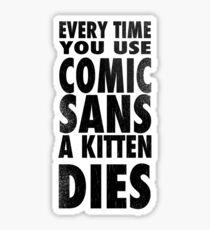 Comic Sans Black Sticker