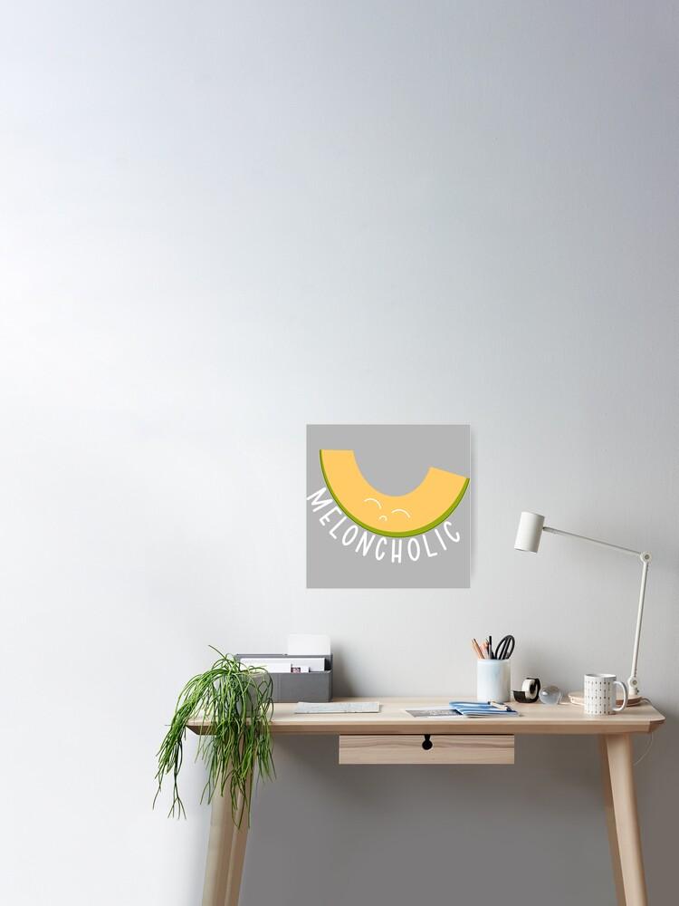 Meloncholic Cantaloupe Pun Poster By Jenniferrendon Redbubble .on vegetable puns, food puns, banana puns, apple puns, nut puns, avocado puns and watermelon puns. meloncholic cantaloupe pun poster by jenniferrendon redbubble