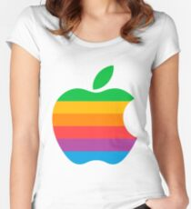 Retro Apple  Women's Fitted Scoop T-Shirt