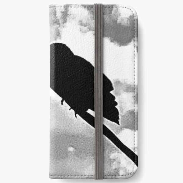Crow On A Wire iPhone Wallet