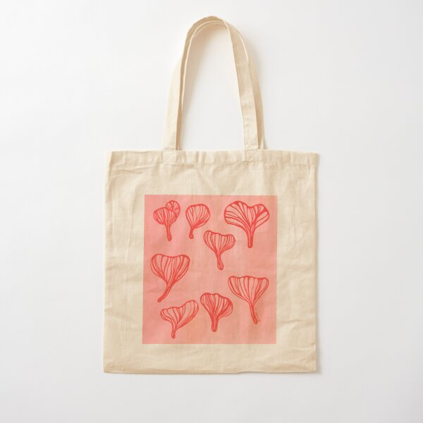 Red Oyster Mushrooms Painting Cotton Tote Bag