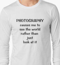 Through a photographer's eyes ... Tee ~ black text Long Sleeve T-Shirt
