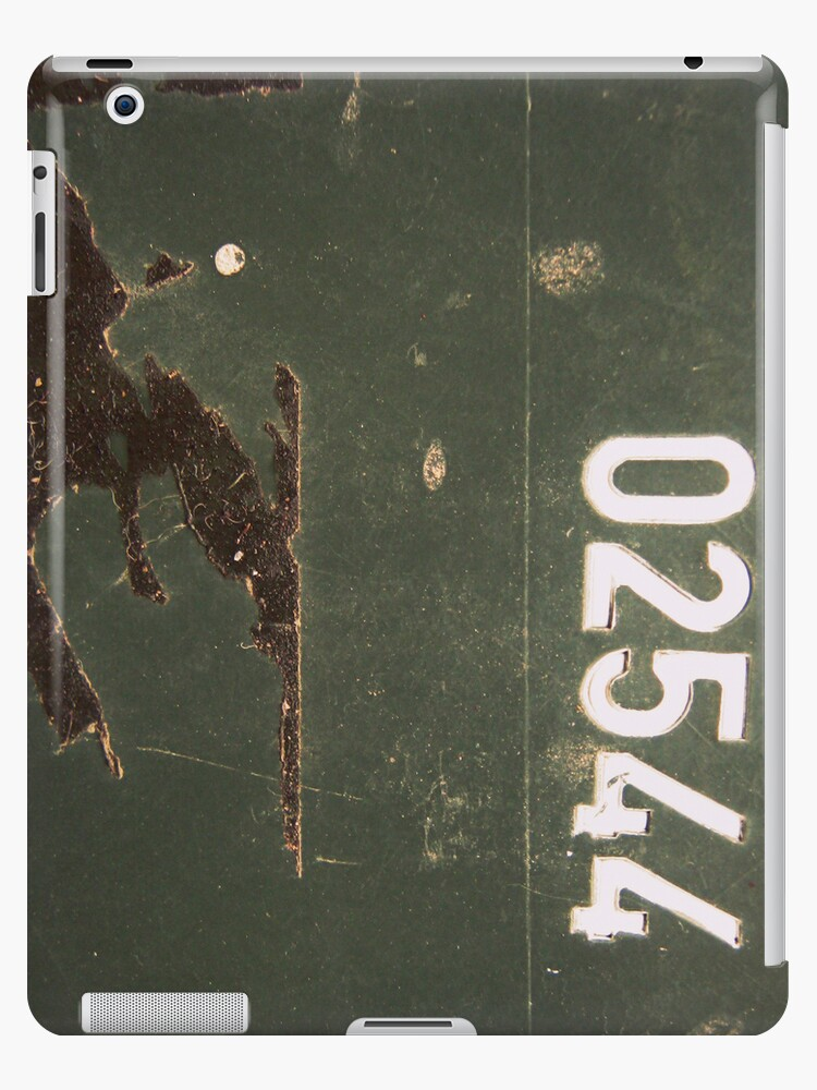 Grungy Numbers ipad case by Vanessa Barklay