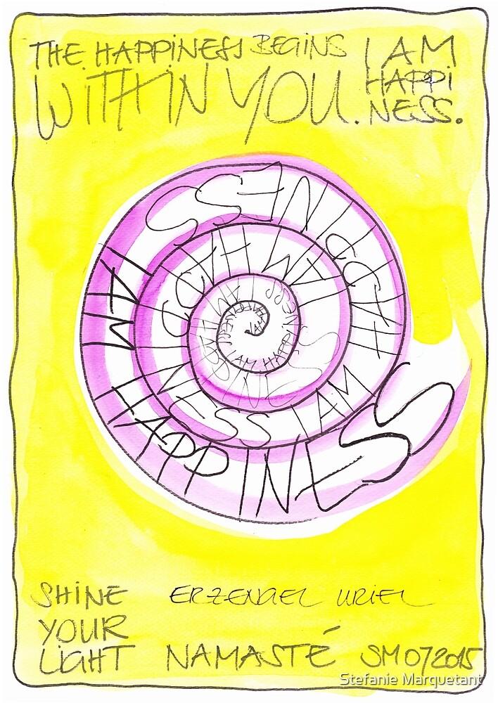 Manifesto »I AM HAPPINESS« von Stefanie Marquetant