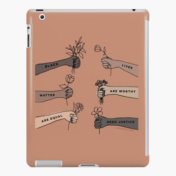 Black lives matter - are worthy- are equal - need justice. iPad Snap Case