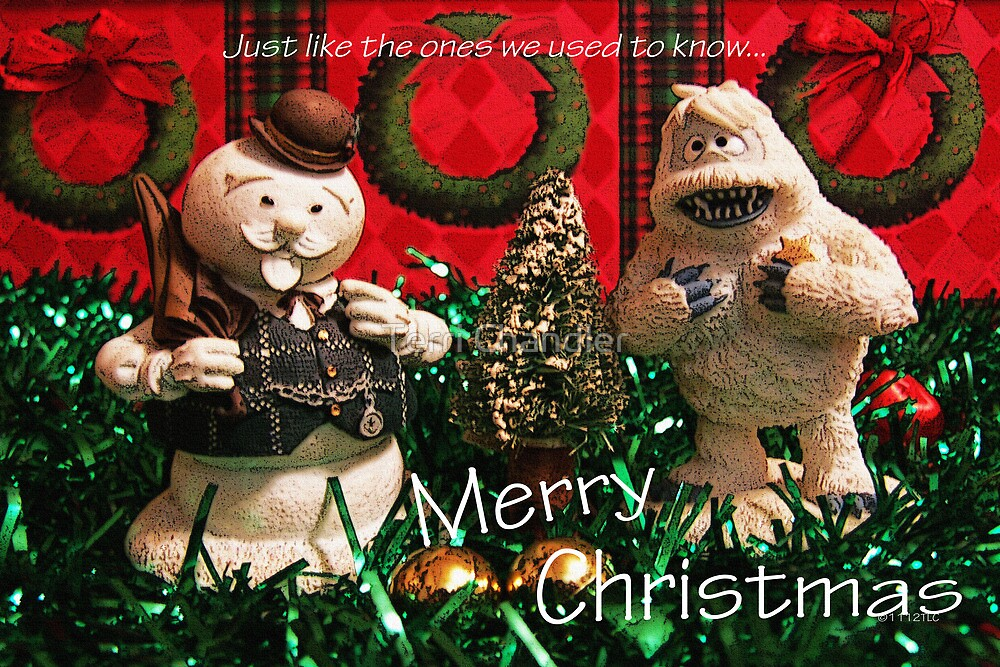 Christmas Snowman and Yeti by Terri Chandler