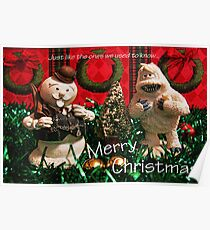 Christmas Snowman and Yeti Poster