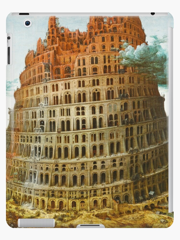 The Tower Of Babel C 1563 Pieter Bruegel The Elder Ipad Case Skin By Psychesansamour Redbubble