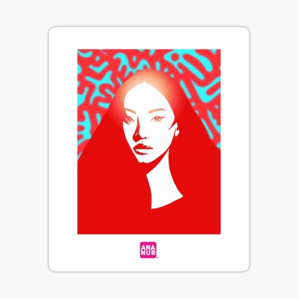 Glow girl Sticker