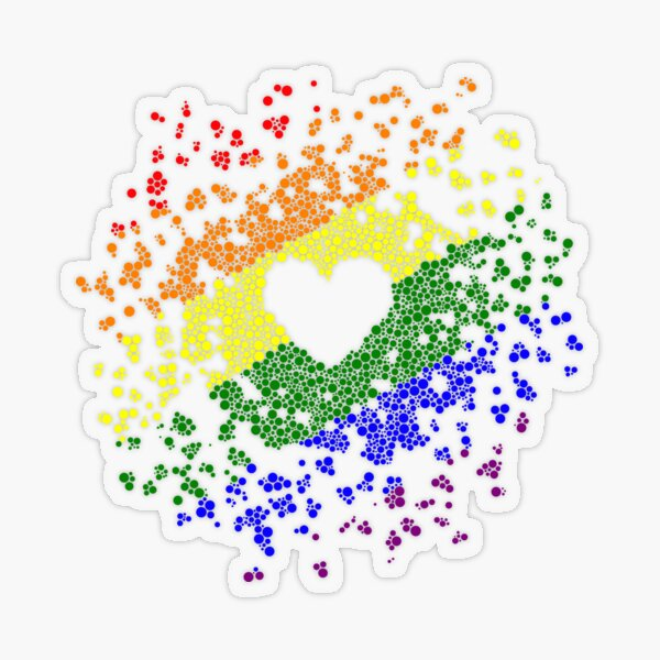 Pride Heart Transparent Sticker