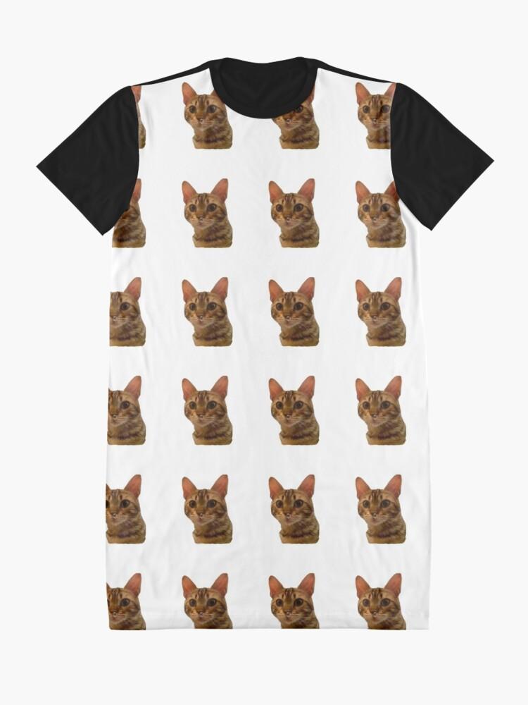 Vista alternativa de Vestido camiseta Haz tu día más feliz