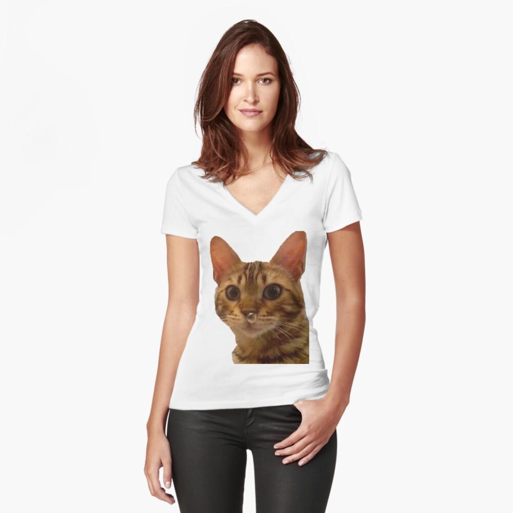 Haz tu día más feliz Camiseta entallada de cuello en V
