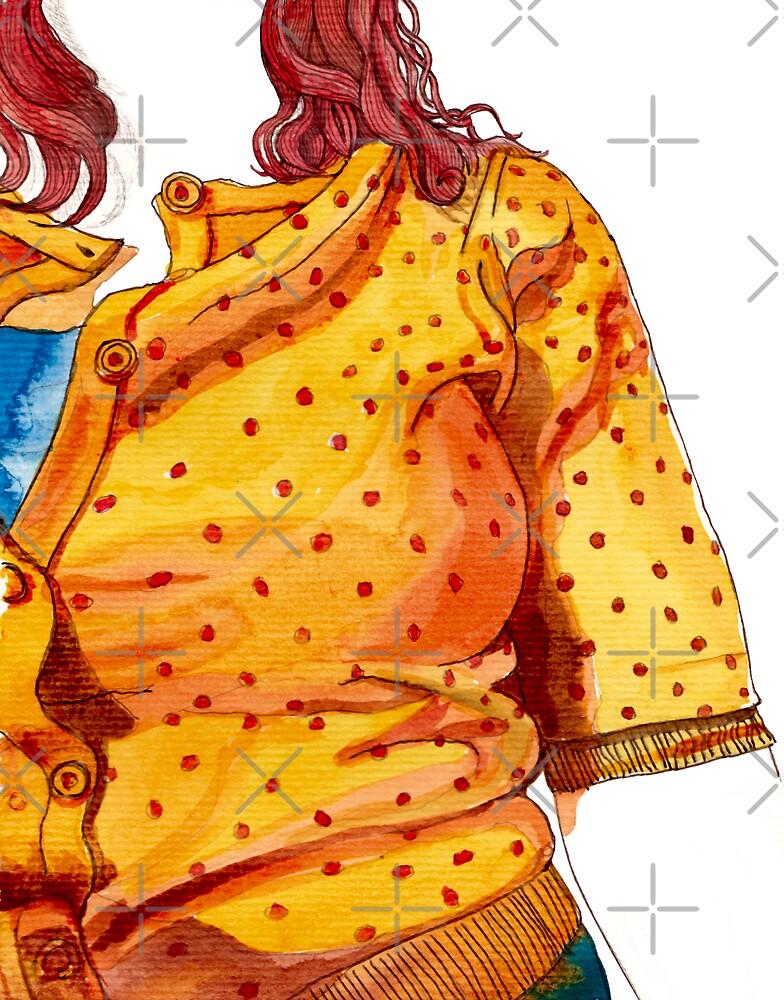 Her orange jumper by vian