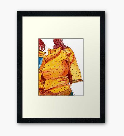 Her orange jumper Framed Print