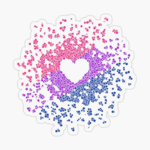 Biheart Transparent Sticker