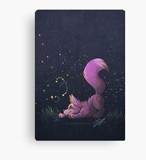 Firefly Fox - Pink Canvas Print