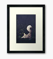 Firefly Fox - White Framed Print