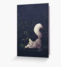 Firefly Fox - White Greeting Card