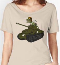 T-Rex in a Tank Women's Relaxed Fit T-Shirt