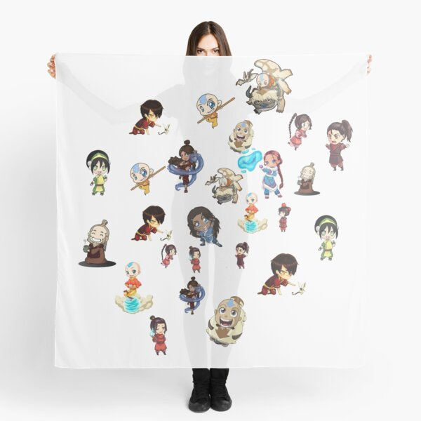 avatar the last airbender chibi mix collection Scarf