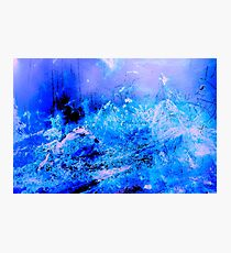 Fantasy Blue Artwork Photographic Print