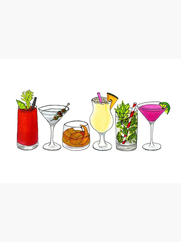 Classic cocktail collection by EBG-draws