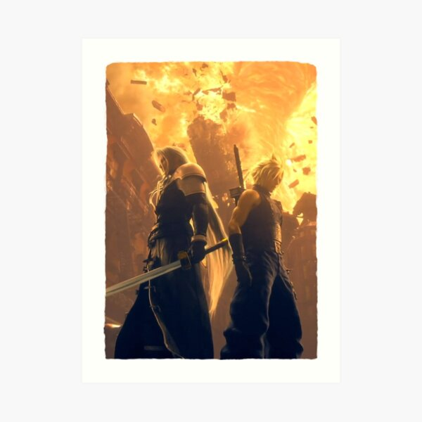 Final Fantasy VII Remake - Cloud and Sephiroth Art Print