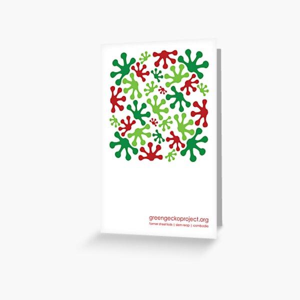 Festive footprints Greeting Card
