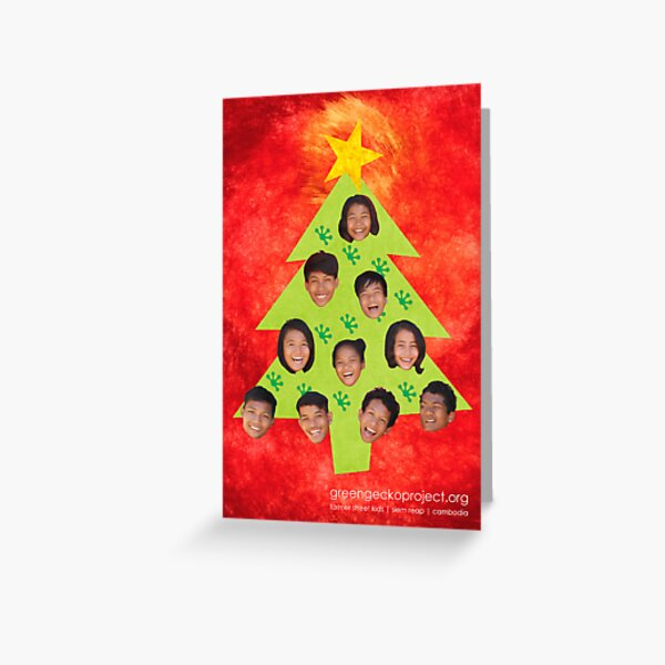 A very Gecko Christmas! (red with Gecko prints) Greeting Card
