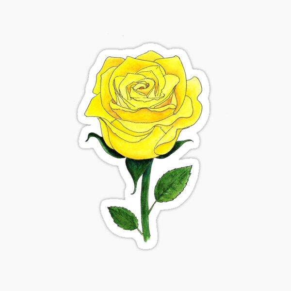 Yellow Rose of Texas Sticker Sticker