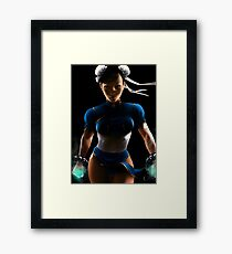 Chun Li - Sexy Street Fighter Framed Print