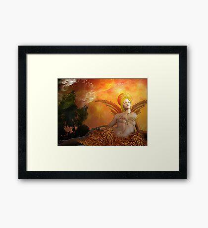 Fractal- Morning glow Framed Print