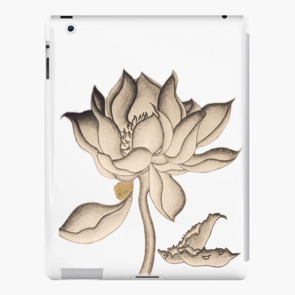 Lotus-like Flower (Sepia adjacent design) iPad Snap Case