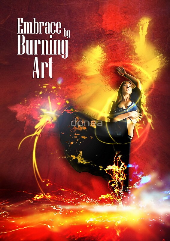 Embrace by Burning Art by donea