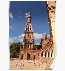 Plaza de España in Seville - Andalusia, Spain Poster
