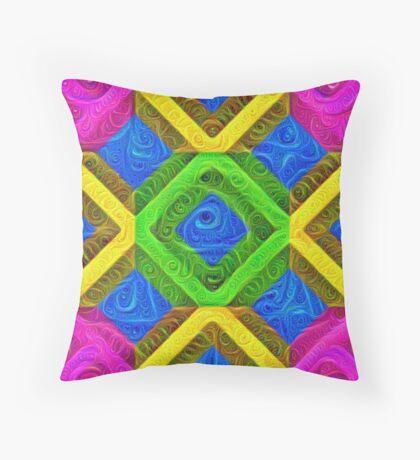 #DeepDream Color Squares Visual Areas 5x5K v1448364075 Throw Pillow