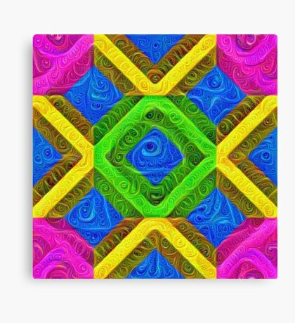 #DeepDream Color Squares Visual Areas 5x5K v1448364075 Canvas Print