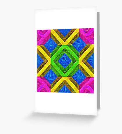 #DeepDream Color Squares Visual Areas 5x5K v1448364075 Greeting Card