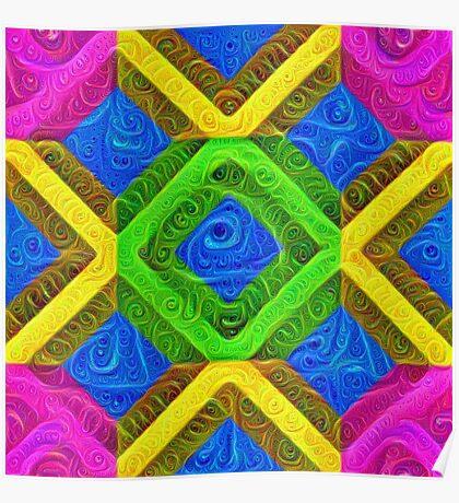 #DeepDream Color Squares Visual Areas 5x5K v1448364075 Poster