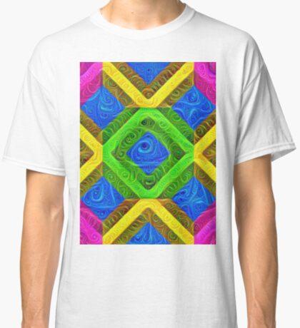 #DeepDream Color Squares Visual Areas 5x5K v1448364075 Classic T-Shirt